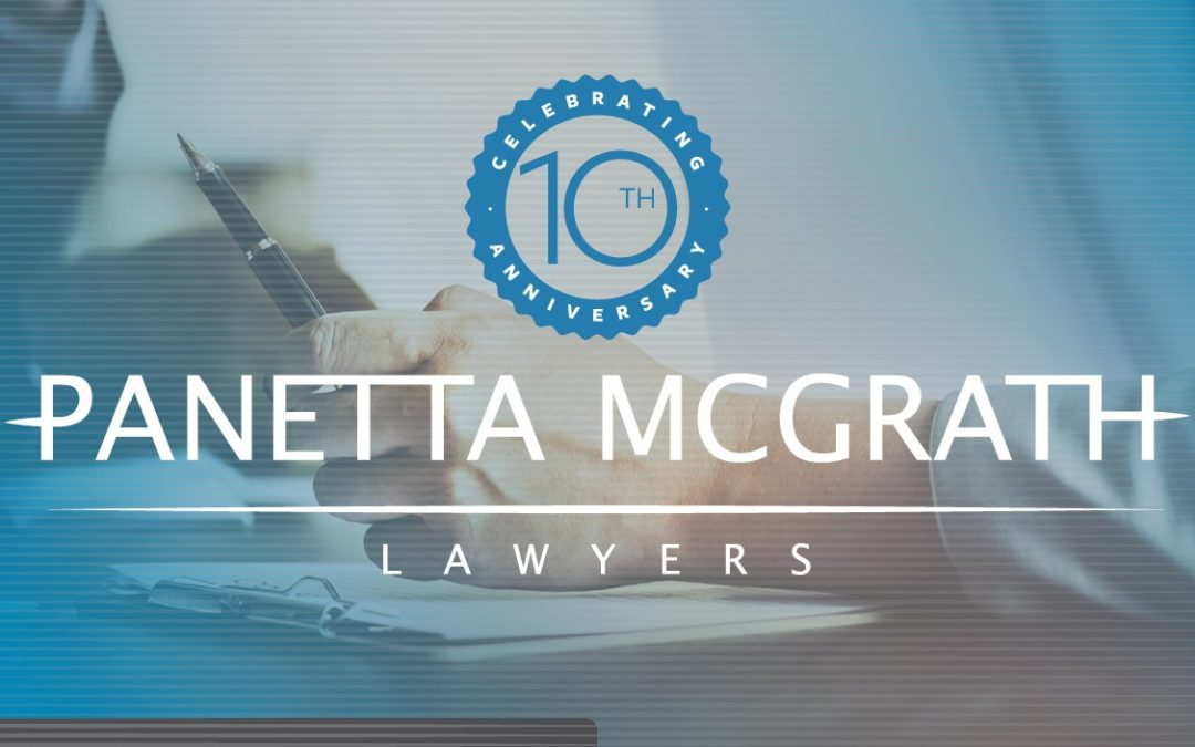 Panetta McGrath 10th Anniversary