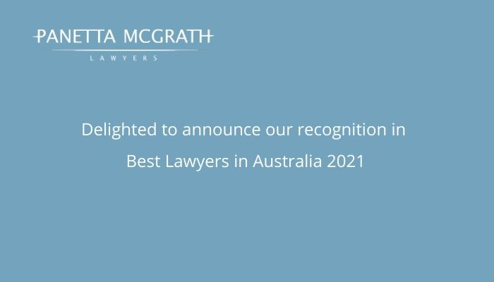 Panetta McGrath Lawyers recognised in Best Lawyers in Australia 2021