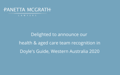 Panetta McGrath health and aged care team recognised in Doyle's Guide