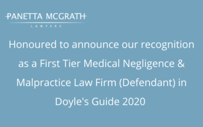 Congratulations to our Health Law team for their recognition in Doyle's Guide 2020