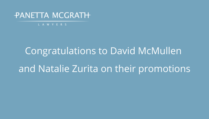 Panetta McGrath Lawyers announces two promotions for the new year